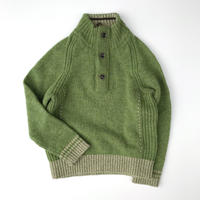 【USED100cm】green knit