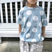 【110cm】BIG DOT ブルーTシャツ