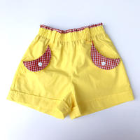 【vintage110cm】80's yellow shortpants