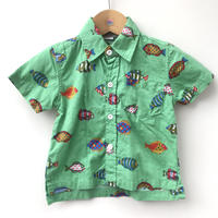 【used約90cm】熱帯魚シャツ