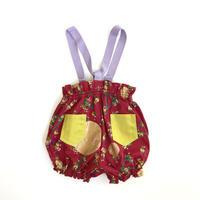 fil【baby70〜90cm】flower suspender BURUMA