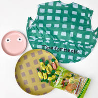 BIBIB Goma「green check」お食事スタイ