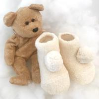 【9-11cm】organic cotton ponpon socks