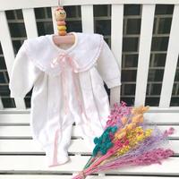 JurianKinder *pink  ribbon knit rompers【jk147】