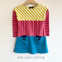 【used95cm】colorful stripe onepiece