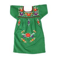 【vintage約90cm】mexico dress green