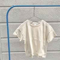 デザインスリット オートミールTシャツ