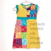 【vintage約110cm】patchwork onepiece