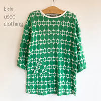 【used120cm】green dot onepiece