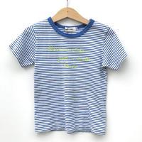 【used110cm】ブルーボーダーTシャツ