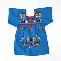 【vintage約70-80cm】mexico dress blue