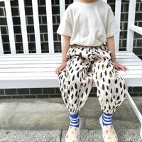 【100-110㎝】スウェットレオパードパンツ