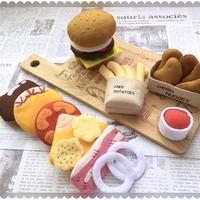 フェルトままごと ハンバーガー