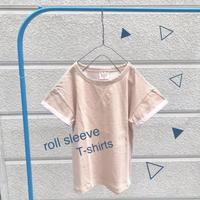 ロールスリーブTシャツ