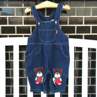 【USED95㎝】bear denim overall