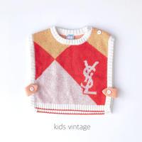【vintage90cm】ysl knit vest