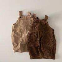 suspender corduroy skirt