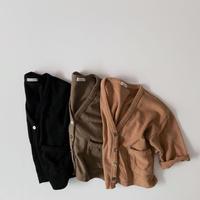 <即納>boxy cardigan(black L)