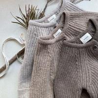 <即納>rib knit suit