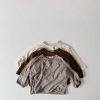 <即納>raw edge boxy  tee(brown m)