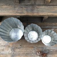 ブリキの鉢  Lサイズ