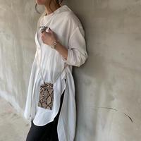 【御予約】オーバーサイズリネン混ロングシャツ