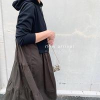 【御予約】ドッキングティアードパーカーワンピース