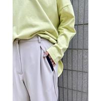 ポケットデザインバイカラーパンツ