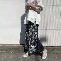 フラワー&フラワープリントロングスカート