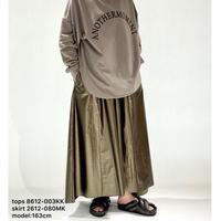 【御予約】レザーライクギャザースカート
