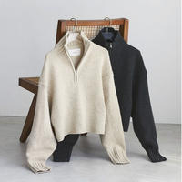 【御予約】Wool Zip Knit
