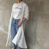 【御予約】2wayアシメトリーオーバーサイズシャツ(無地)