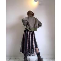 刺繍チュールロングスカート