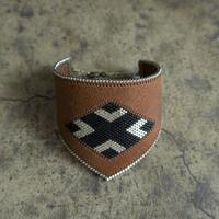 Leather & Beads bracelet brown vol.1
