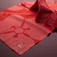 赤 | 五大家紋手ぬぐい  かまわぬ製
