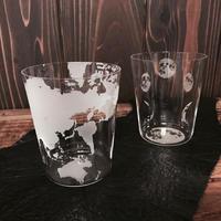 地球 - mikan - & 家月 - kamoon - うすふきグラス2個セット 桐箱入
