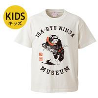 猫忍者キッズTシャツ (バニラホワイト)