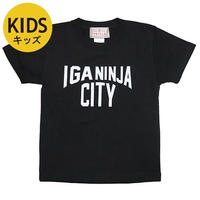 伊賀市・忍者市 ご当地 キッズTシャツ (ブラック)