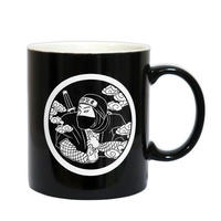 家紋忍者マグカップ(ブラック)