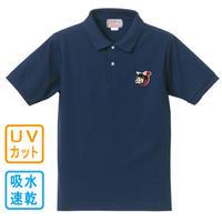 猫忍者 ワンポイント ポロシャツ(ネイビー)