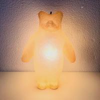 Aquvii×KYOTAROコラボレーション クマの立体オブジェ 合成樹脂FRP手作りオブジェ