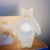 Aquvii×KYOTAROコラボレーション 置き型クマの立体オブジェ 合成樹脂FRP手作りオブジェ