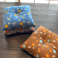 小座布団(小鳥と花)