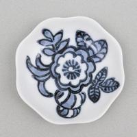 古代花紋 輪花豆皿