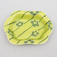 グリーン梅紋 木瓜豆皿