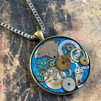 【STYLES追加掲載】CLOPOA large necklace metallic blue【K0478】