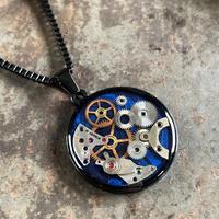 CLOPOA BLACK standard necklace indigo【K0585】