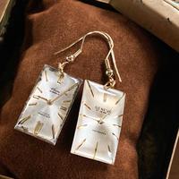 【STYLES】antique dial hook pierced earrings K18GP 【K0451】