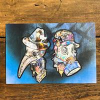 9時5分の歯車 originalポストカード「9時5分の歯車」ill.TORIICON,art.TAATUUS