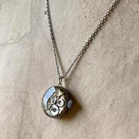 antique dial&movement reversible necklace